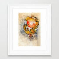 sun and moon Framed Art Prints featuring Sun & Moon by Rubis Firenos