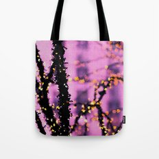 Gold On Pink Glass Tote Bag