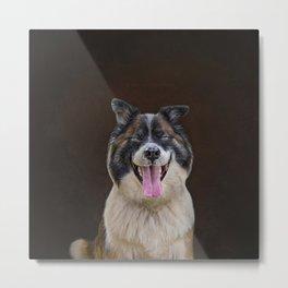 Very Happy Dog Metal Print