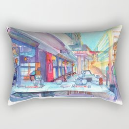 Cafe in the Knokke Rectangular Pillow