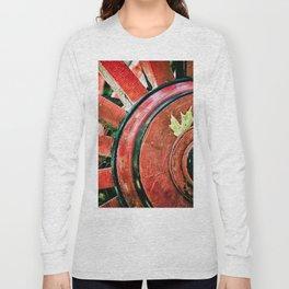 Vintage Wooden Wheel Long Sleeve T-shirt