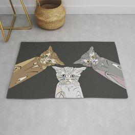 Triple Kitties Rug
