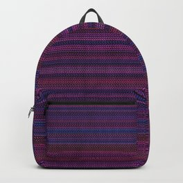 Pink Striped Knitted Pullover Pattern Backpack