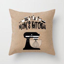 "Kraft Paper Style ""Mom's Kitchen"" Baking Print Throw Pillow"
