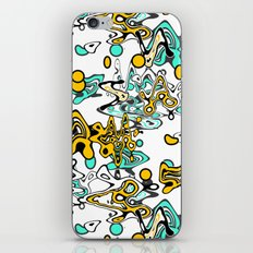Multicolored abstract pattern iPhone Skin