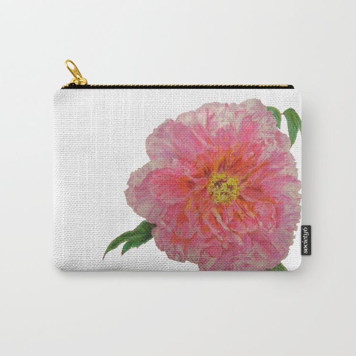Pink Peony Flower Drawing Carry-All Pouch