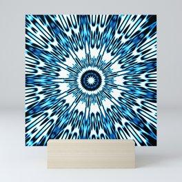 Blue White Black Explosion Mini Art Print