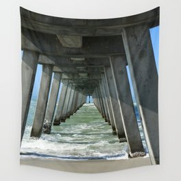 Under The Fishing Pier Wall Tapestry