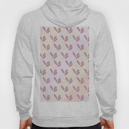 Very stylish retro hand drawn botanical interior design and textile design pattern in rose tones Hoody