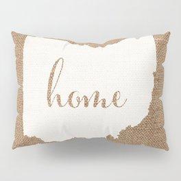 Ohio is Home - White on Burlap Pillow Sham