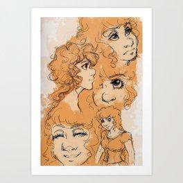 Apricot Hair Art Print