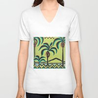 palm trees V-neck T-shirts featuring Palm Trees by Abundance