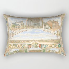 Vintage greeting from Opladen Rectangular Pillow