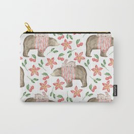 Bear Pattern #7 Carry-All Pouch