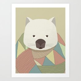 Whimsical Wombat II Art Print