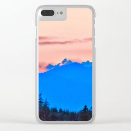 The Cascading Mountain Range Clear iPhone Case