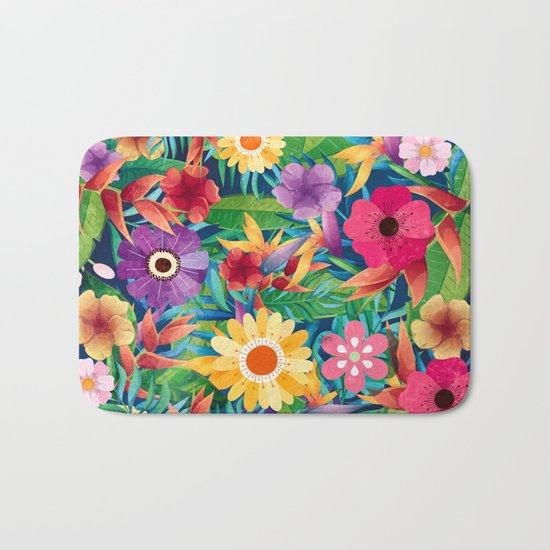 Summer Floral Dreams Bath Mat