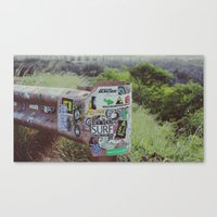 stickers Canvas Prints featuring Stickers of Maui  by Braeden Mohr