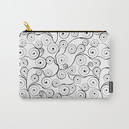 Abstract black white hand drawn swirls pattern Carry-All Pouch
