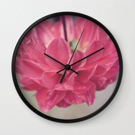 Water Petals Wall Clock