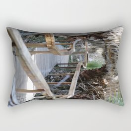 Wooden Pathway Through Desert Oasis 2 Coachella Valley Wildlife Preserve Rectangular Pillow