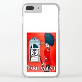 Vintage Parliament Cigarette Advert Clear iPhone Case