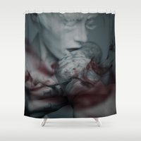 the cure Shower Curtains featuring Cure by Imustbedead