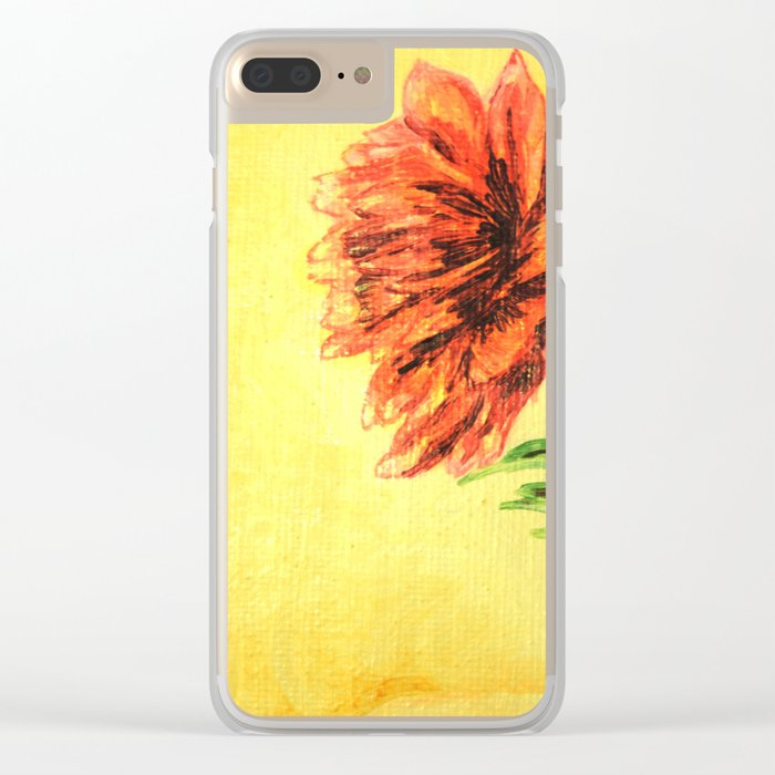 flower in a glass . illustration . art Clear iPhone Case