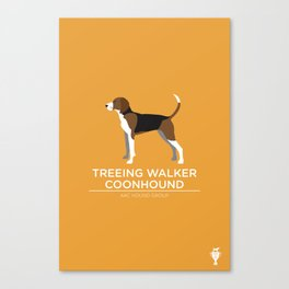 Treeing Walker Coonhound Canvas Print