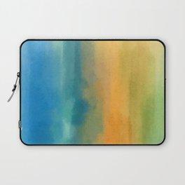 Raining Streaks of Rainbow Colors Laptop Sleeve