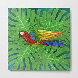 Parrot Flying Metal Print