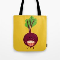 drum Tote Bags featuring Beet's drum beat by Picomodi