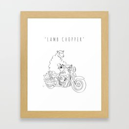 'Lamb Chopper' Framed Art Print