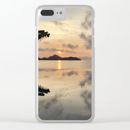 Sunset over Water Clear iPhone Case