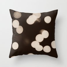 Cool Lights Bokeh Throw Pillow