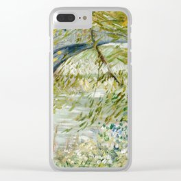River Bank in Springtime Clear iPhone Case