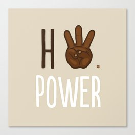 HiiiPower (w/text) : Chocolate Canvas Print