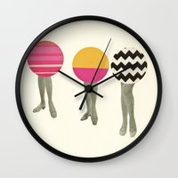 feet Wall Clocks featuring Dancing Feet by Cassia Beck