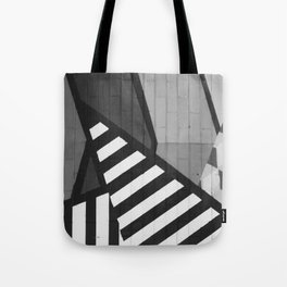 Abstract Art (Black and White) Tote Bag