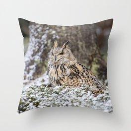 Western Siberian Eagle Owl Throw Pillow