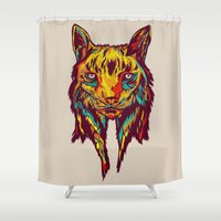 rare Shower Curtains featuring BE RARE* - Iberic Lince by Vasco Vicente