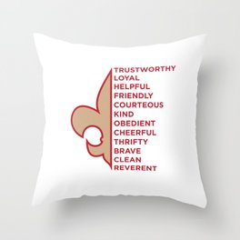 Scout Law Throw Pillow