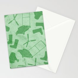GARDEN TOOL KIT PATTERN Stationery Cards