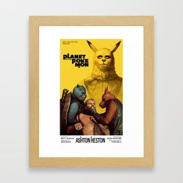 Planet of the Poke-mon Framed Art Print