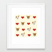 puppies Framed Art Prints featuring Puppies by CharlieAmber