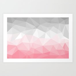 pink and grey polygon 2018 Art Print