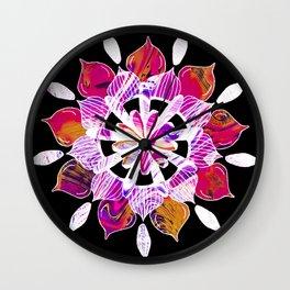 Simple Pleasures - Fractal Inverted Color Version Wall Clock