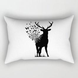 Deer Butterfly Rectangular Pillow
