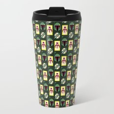 Boba Fett Mandalorian Symbols on Green Travel Mug