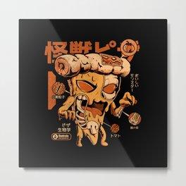 Pizzazilla X-ray Metal Print